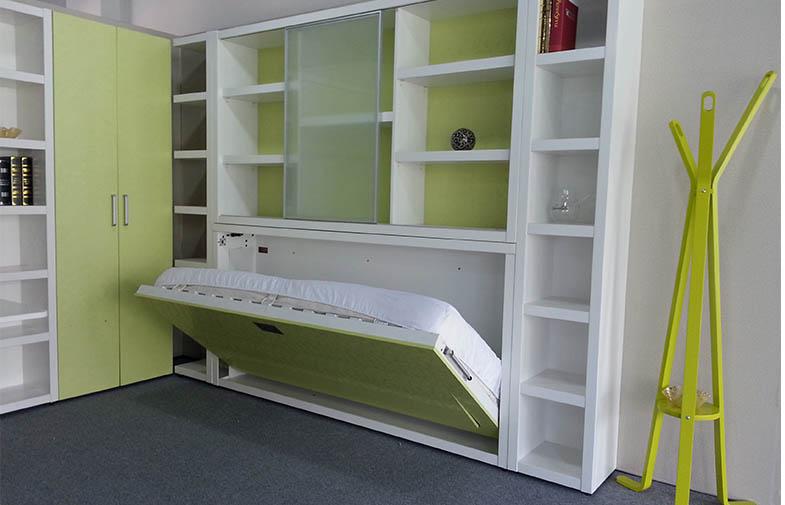 可折叠办公桌单人壁床