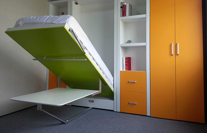Space Saving Wall Bed With Dining Table